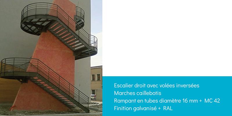 Escalier droit - Escaliers