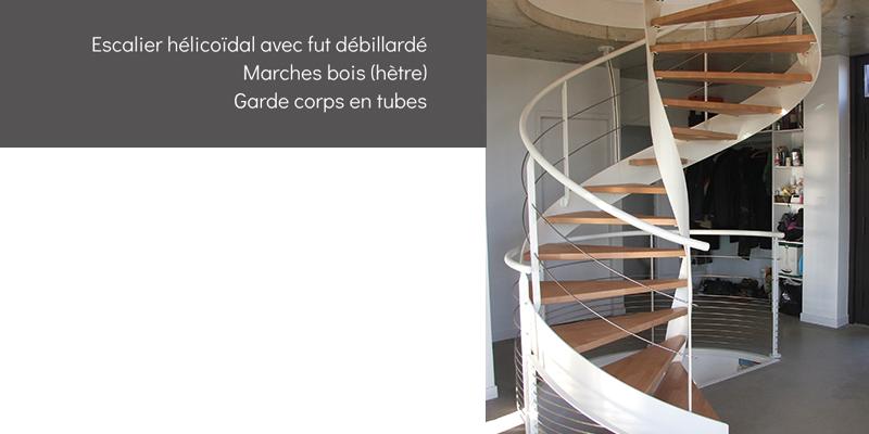 Escalier hélicoidal avec fut débillardé - Escaliers