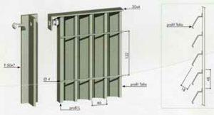 Tinos verticale clôture à lames inclinées 300x162 - Clôture
