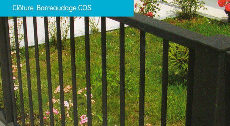 clôture barreaudage COS - Clôture