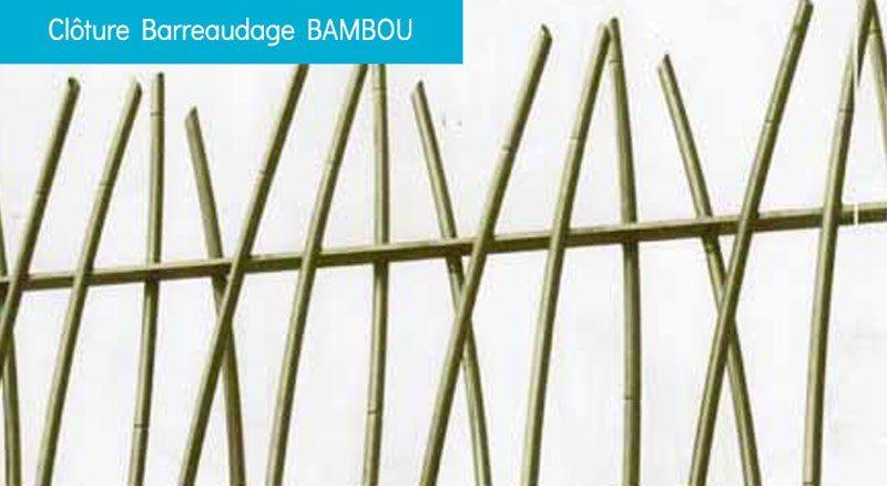 clôture barreaudage bambou - Clôture