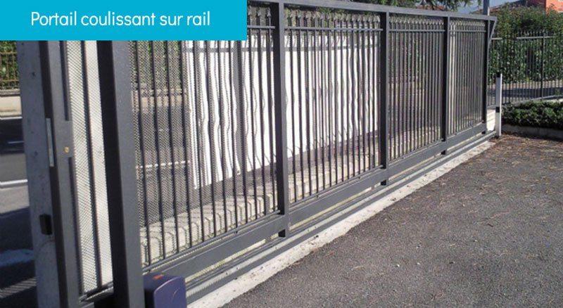 portail coulissant sur rail - Portails
